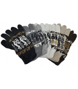 Gloves with Andean motifs - Alpacryl