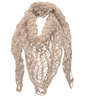 Lace Triangle Scarf - Pure Alpaca Wool