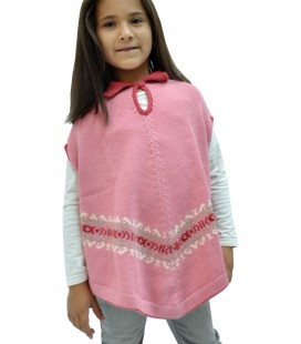 Sleeveless Kids Poncho - 100% Alpaca wool