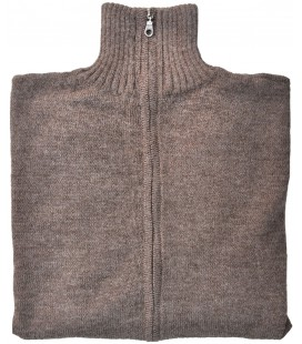 Zippered cardigan -  Alpaca Wool