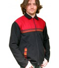 Red and Black Jacket with aguayo tissue