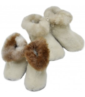Children's boot slippers - Alpaca Fur
