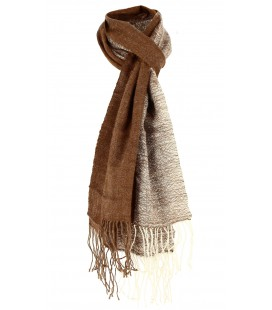 Two-color Scarf - Lama wool