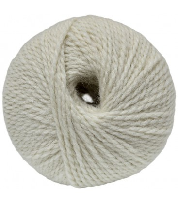 Alpaca and Sheep Wool - Raw white - 100 gr.