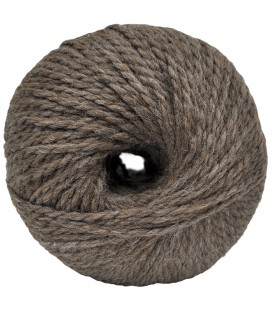 Alpaca and Sheep Wool - Chestnut brown - 100 gr.