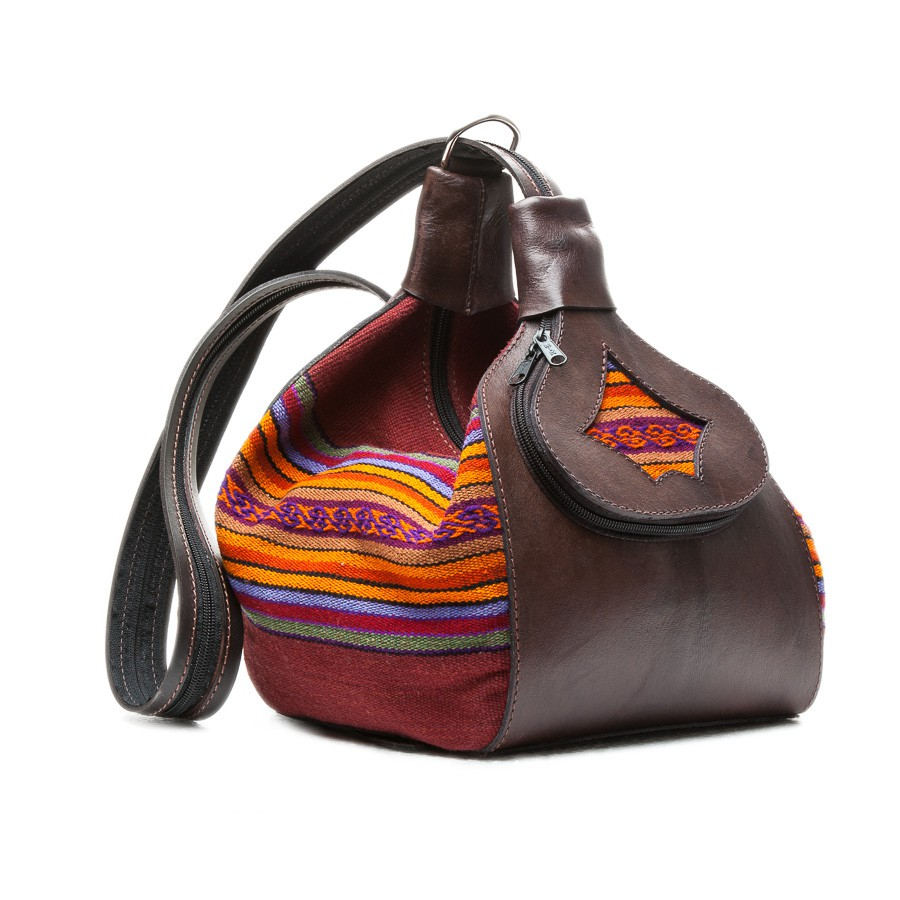 Convertible Nubuck leather backpack/purse - Made in Bolivia