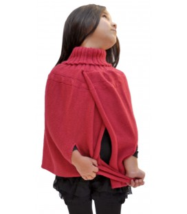 Poncho Cape for girl - 100% alpaca wool