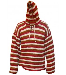 Multicolor Hooded pullover - Wool