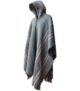 """Illimani"" Poncho with Hood"