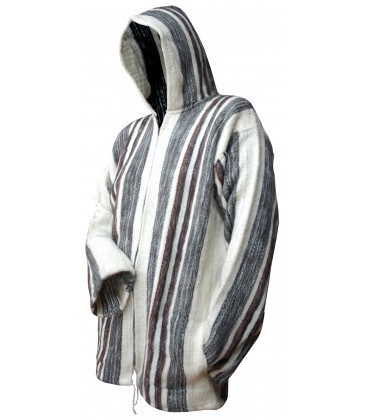 Hooded Jacket for Men - Pure Wool