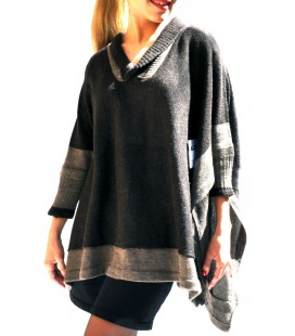 Sweater Poncho - Alpaca Wool