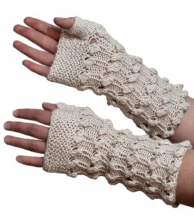 """Spots"" Fingerless gloves - Pure Alpaca Wool"