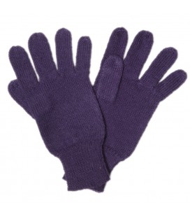 One color gloves - Pure Alpaca Wool
