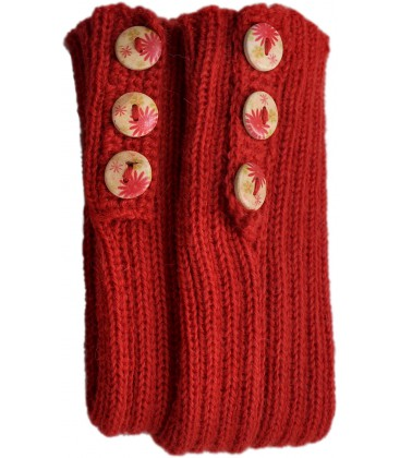 Long Wrist warmers with buttons - Pure Alpaca Wool