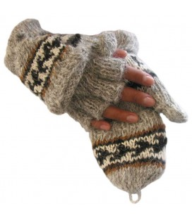 Flip Top Mittens- Lama and Alpaca Wool