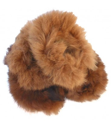 Plush Slippers for Adults - Alpaca Fur