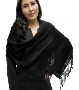 Rustic Sheer Scarf - Pure Lama Wool