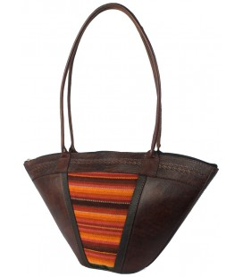 """Mini-Basket"" bag - Genuine leather"